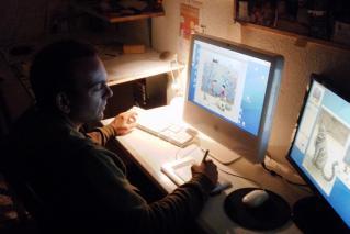 Jaime Espinar en su estudio