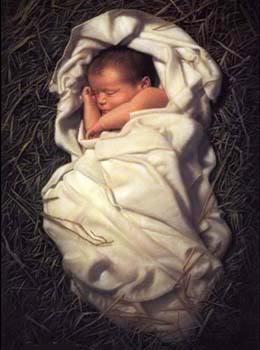 Niño Jesús en el pesebre